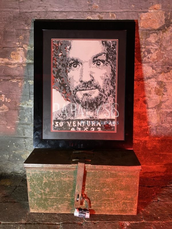 Charles Manson artwork framed print